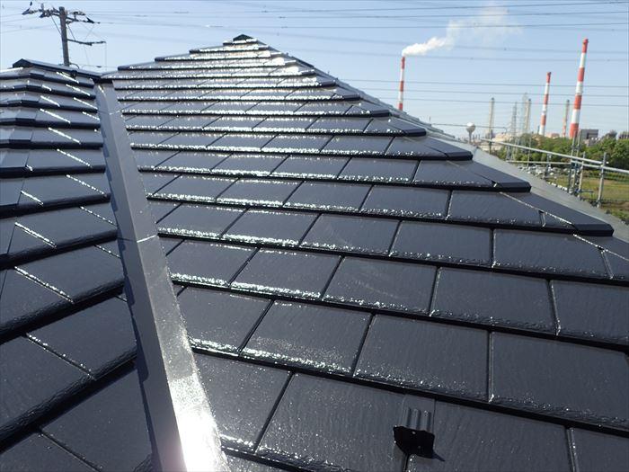 遮熱塗料での屋根塗装工事完了