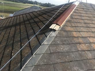 棟板金交換 屋根塗装 ビフォー