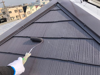 ニッペ サーモアイSi クールディープグレーでスレート屋根塗装