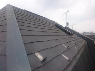 天窓が付いていて勾配のある屋根の点検