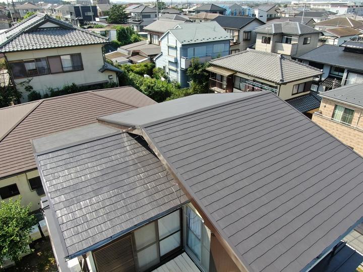 屋根ドローン撮影