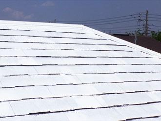 スレート屋根下地塗装