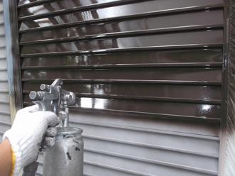 雨戸 吹き付け塗装
