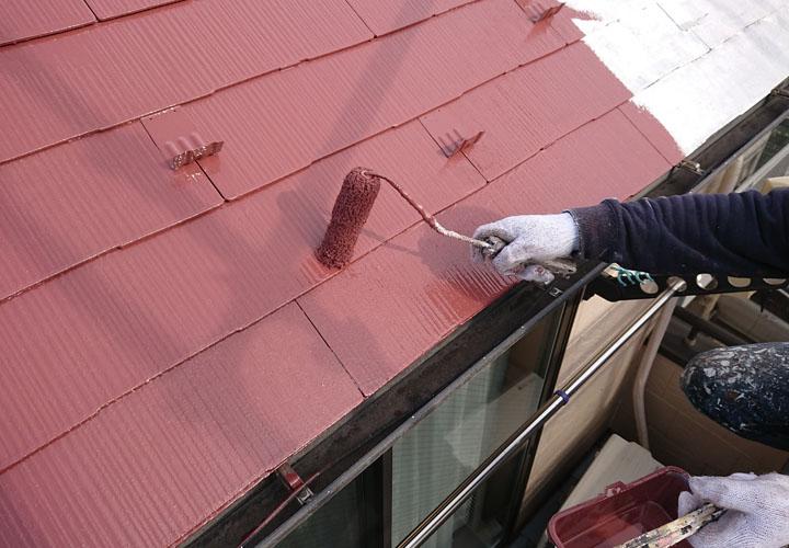 サーモアイSi クールブラウンでスレート屋根塗装