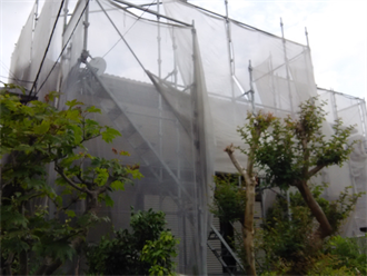 八千代市村上の屋根塗装現場