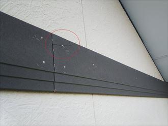 幕板の釘打ちによる割れ