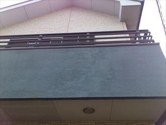 ベランダ部分の外壁材