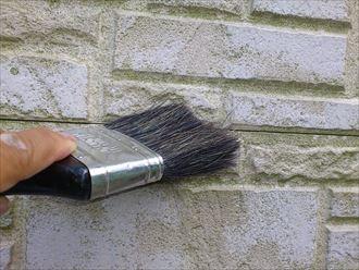 刷毛での清掃