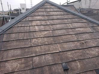 高圧洗浄後の化粧スレート屋根
