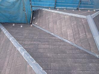 屋根の乾燥後