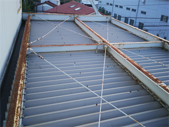 折板屋根点検