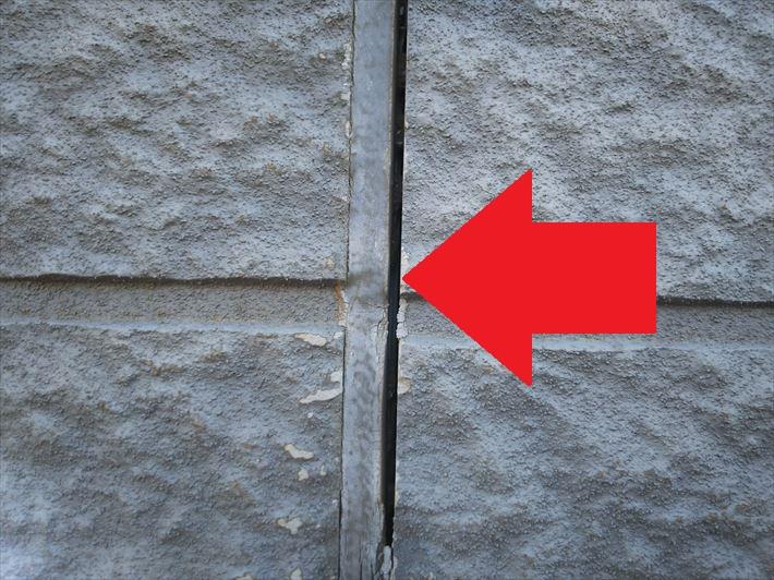 サイディング外壁のシーリングの剥離