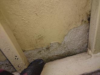 内壁の塗膜剥がれ