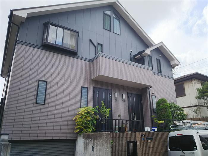 二世帯住宅の外壁塗装前点検
