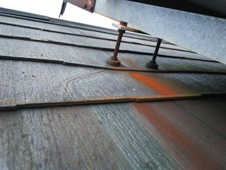 太陽光パネル架台の錆
