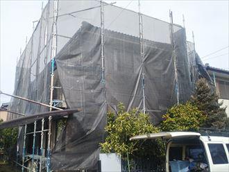 四街道市旭ケ丘で外壁塗装工事を実施
