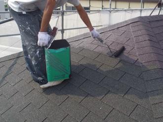 水性塗料での屋根塗装