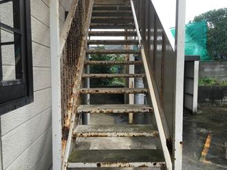 鉄階段の調査