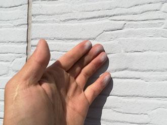 チョーキング現象が発生した窯業系サイディング外壁