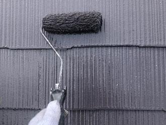 サーモアイ4Fのクールディープグレーでスレート屋根の塗装