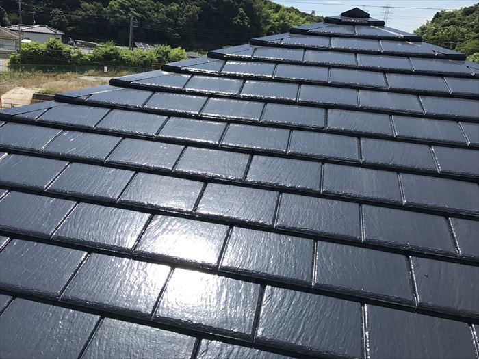 屋根塗装1年後の厚型スレート