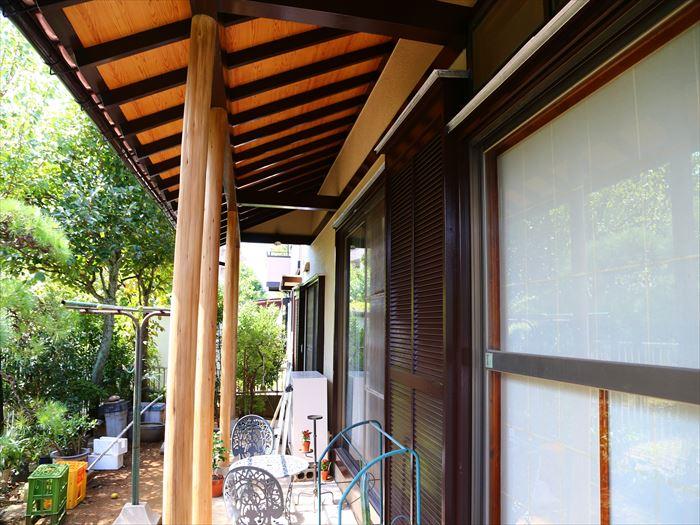 外壁塗装,灰汁洗い完了