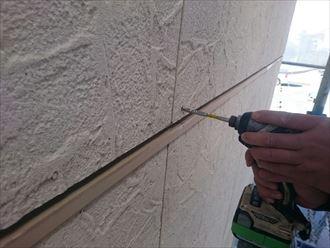 ビス打ちによる外壁材固定