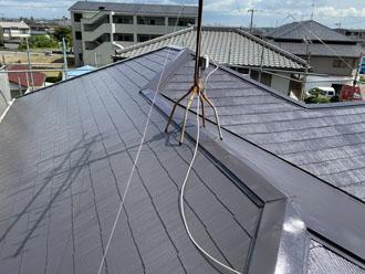 サーモアイSi クールディープグレーで屋根塗装