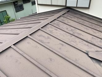 千葉市中央区赤井町にて瓦棒屋根の調査実施、屋根塗装工事をご提案