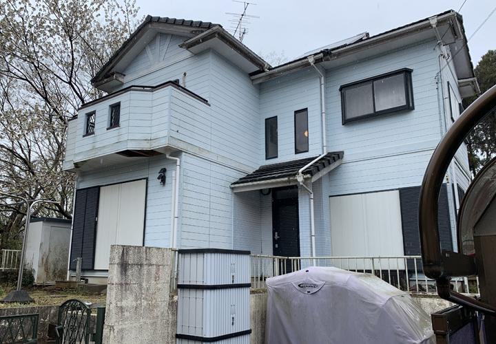 モニエル瓦の補修工事をきっかけに屋根、外壁塗装をご検討された邸宅