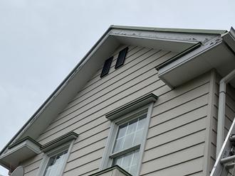 市川市八幡にて破風板の現地調査、軽度でしたので塗装工事が可能