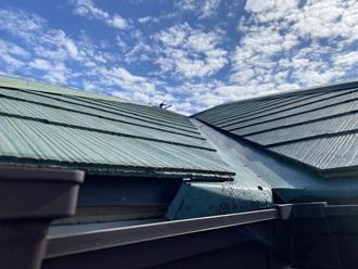 スレート屋根の撥水切れ