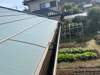 金属屋根の調査実施