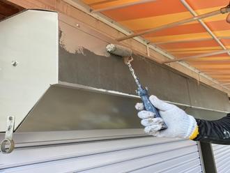 市川市南行徳にてシャッターの劣化、シャッター塗装工事を行いました