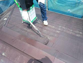 パーフェクトベストのコーヒーブラウンで屋根塗装