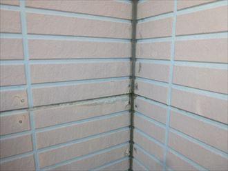 サイディング外壁のシール確認
