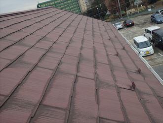 スレート屋根材の雨染み