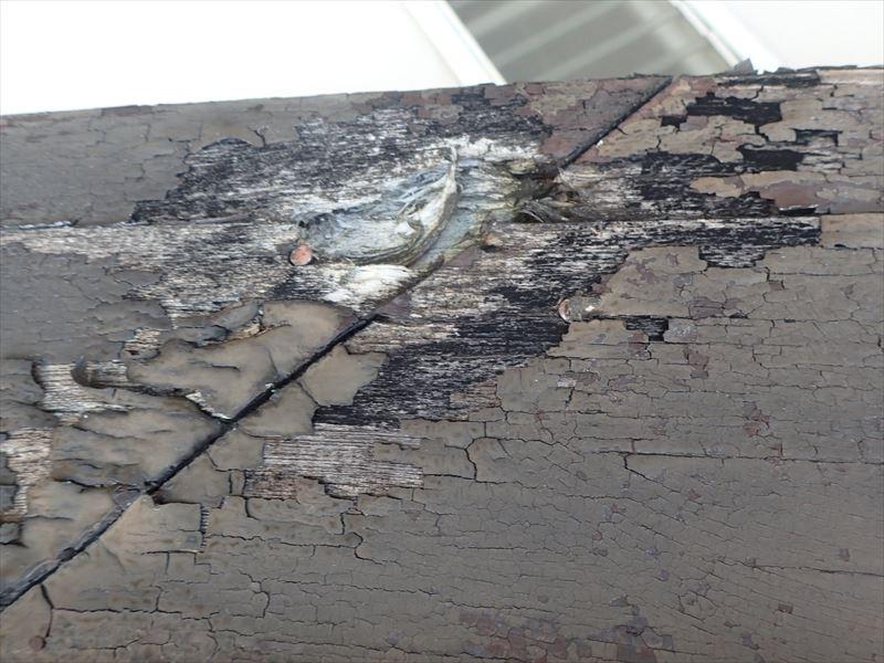 袖ケ浦市今井 破風板の腐食