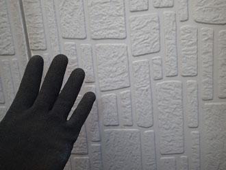 チョーキング現象は特に見られない窯業サイディング外壁