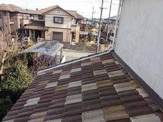 洋瓦の混ぜ葺き屋根