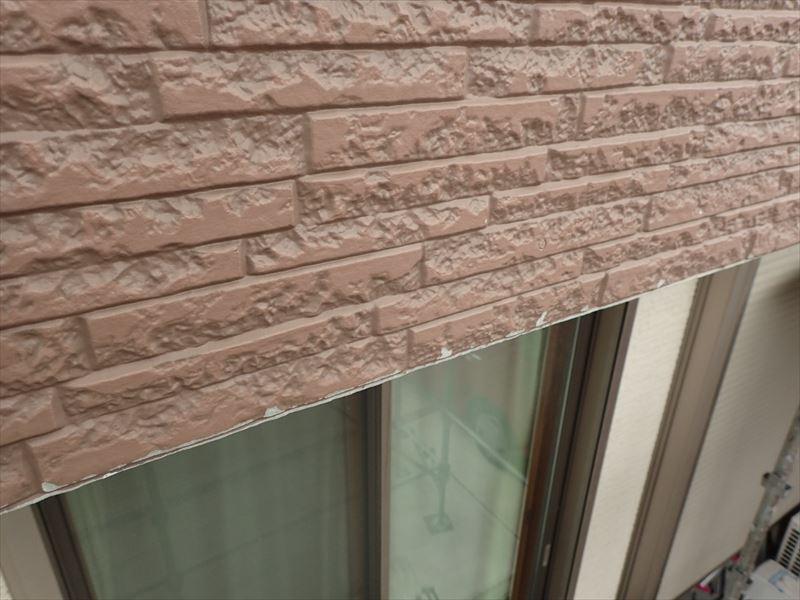木更津市吾妻 外壁の素地の露出