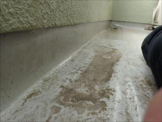 茂原市東郷 防水層の状態確認