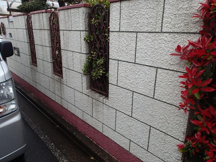 千葉市美浜区のブロック塀塗装