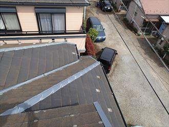 複雑な形状のスレート屋根
