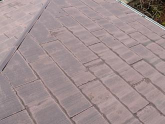 スレート屋根の塗膜劣化の状態