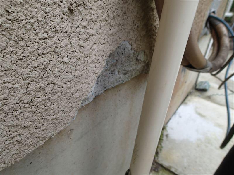 木更津市高柳 外壁の損傷