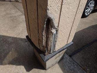 サイディングの剥がれと下地木材の腐食