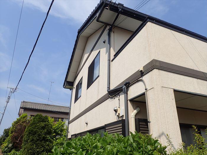 四街道市内黒田で外壁塗装前点検