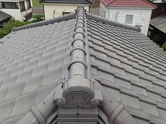 瓦屋根の棟歪み