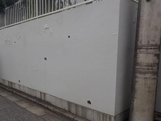 千葉市花見川区で塀塗装